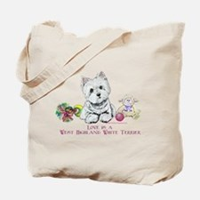 Westhighland Terrier Love Tote Bag