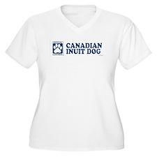 CANADIAN INUIT DOG Womes Plus-Size V-Neck T-Shirt