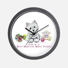 Westhighland Terrier Love Wall Clock
