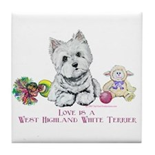 Westhighland Terrier Love Tile Coaster