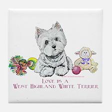 Westhighland Terrier Love Tile Coaster