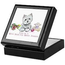 Westhighland Terrier Love Keepsake Box