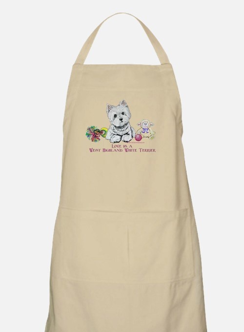 Westhighland Terrier Love BBQ Apron