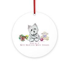 Westhighland Terrier Love Ornament (Round)