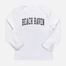 Beach Haven New Jersey NJ Black Long Sleeve T-Shir