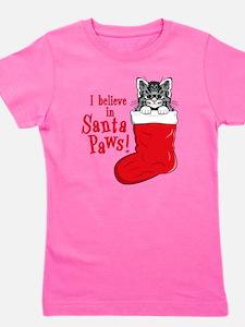 Santa Paws Kitty Girl's Tee T-Shirt