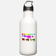 Rainbow Cows Water Bottle