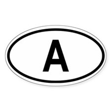 Austria Oval Decal