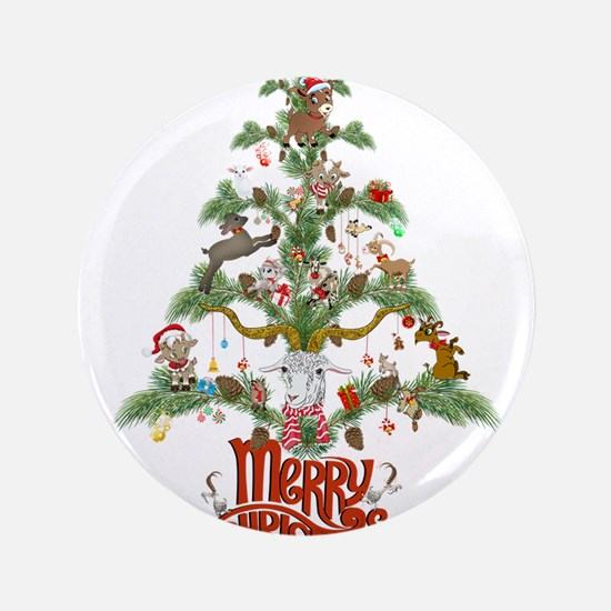 GOAT LOVERS CHRISTMAS TREE Button