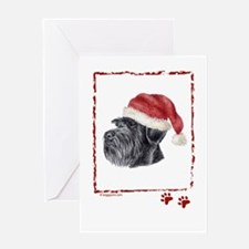 Merry Christmas Giant Schnauzer Greeting Cards