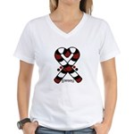 Candycanes Women's V-Neck T-Shirt