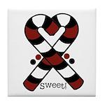 Candycanes Tile Coaster