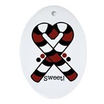 Candycanes Ornament (Oval)