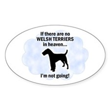 Welsh Terriers In Heaven Oval Decal