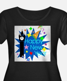 Happy New Year Plus Size T-Shirt