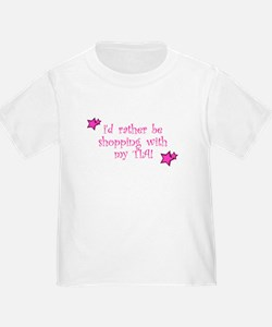 i'd rather be shopping with m T-Shirt