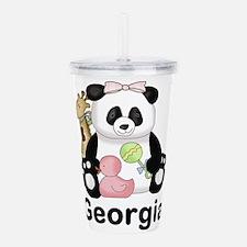 Georgia's Sweet Panda Acrylic Double-wall Tumbler