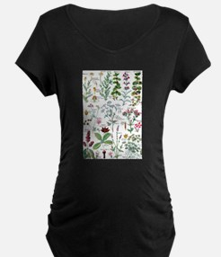 Botanical Illustrations - Larous Maternity T-Shirt