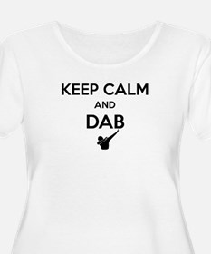 Keep Calm and Dabs Plus Size T-Shirt