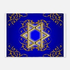 Gold Star of David 5'x7'Area Rug