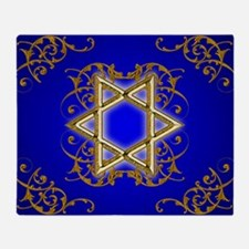 Gold Star of David Throw Blanket