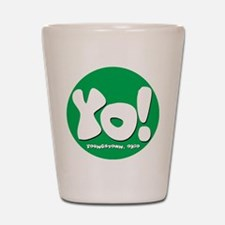 YO! Green Shot Glass