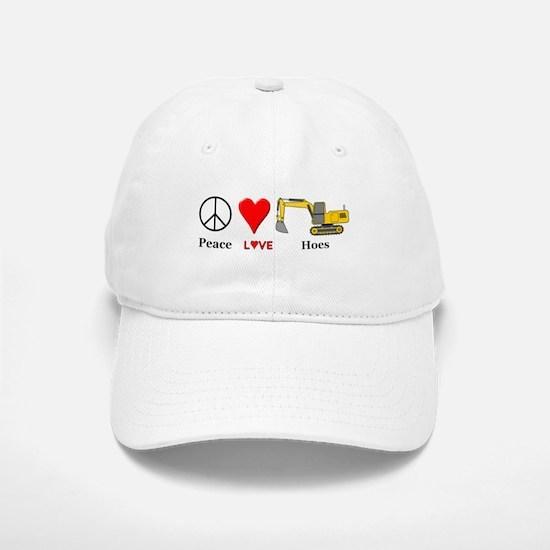 Peace Love Hoes Baseball Baseball Cap