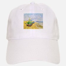 Fishing Boats on the Beach at Saintes-Maries Baseball Baseball Cap