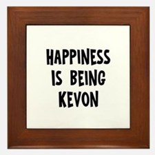 Happiness is being Kevon Framed Tile