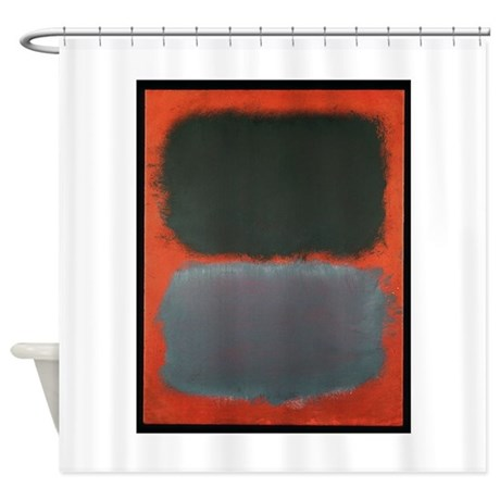 ROTHKO SHADES OF GREY AND ORANGE Shower Curtain By ThingsCollectable