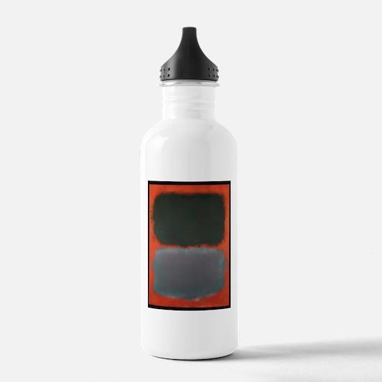ROTHKO SHADES OF GREY AND ORANGE Water Bottle