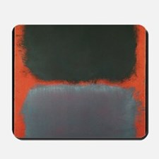 ROTHKO SHADES OF GREY AND ORANGE Mousepad