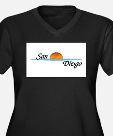 San Diego Sunset Plus Size T-Shirt