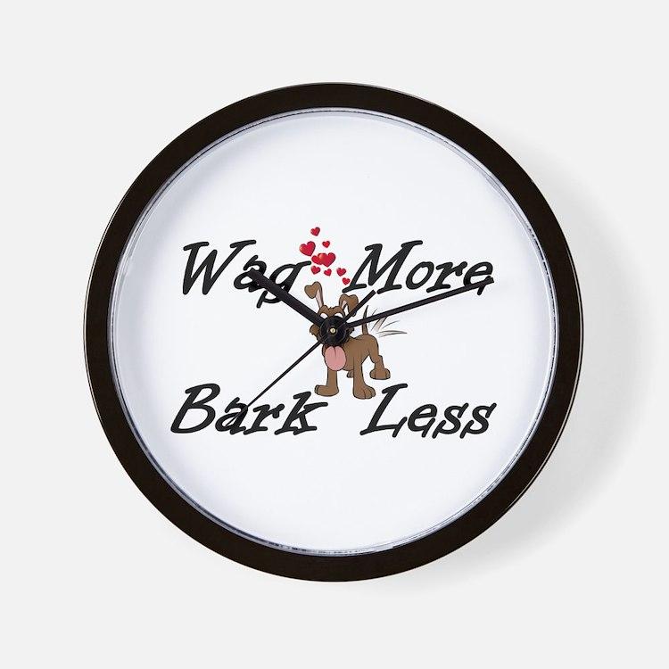 Wag More Bark Less Wall Clock