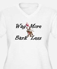 Wag More Bark Less Plus Size T-Shirt