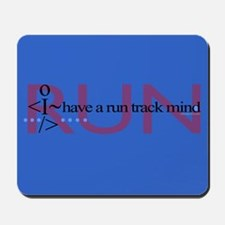 Run track mind runner Mousepad
