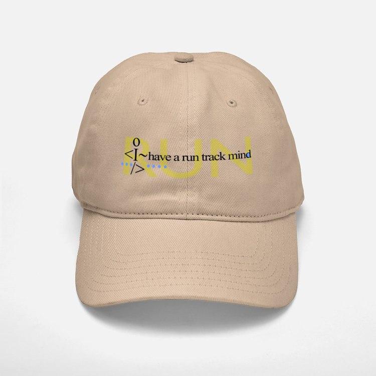 Run track mind runner Baseball Baseball Cap