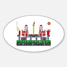 Oil Well Cementer Oval Decal