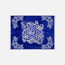Denim Star of David 5'x7'Area Rug