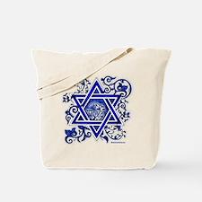 Denim Star of David Tote Bag