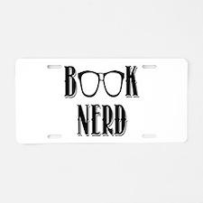 Book Nerd Aluminum License Plate