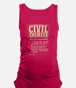 Civil Engineer Definition T Shirt Tank Top