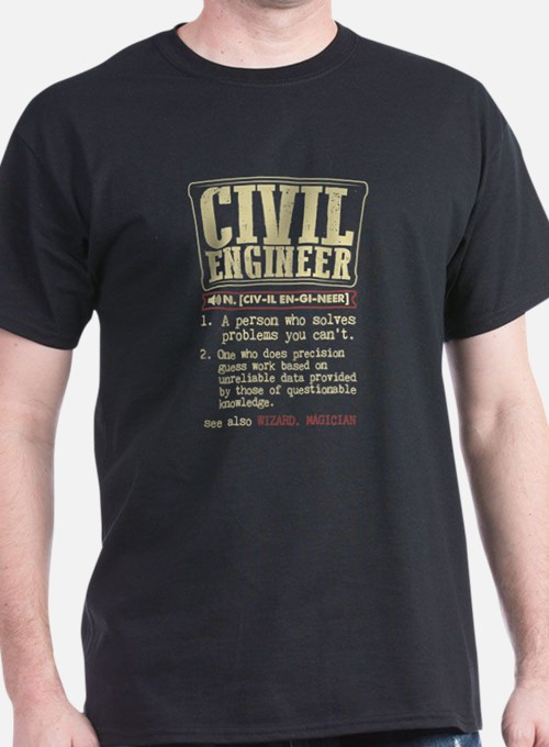Civil Engineer Definition T Shirt T-Shirt
