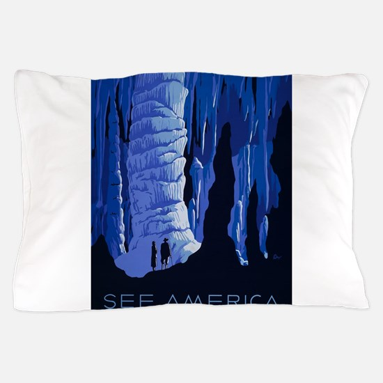 Vintage poster - See America Pillow Case