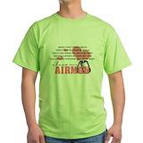 Air force girlfriend Green T-Shirt