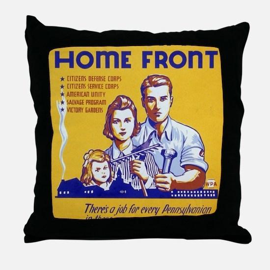 Cute World war Throw Pillow