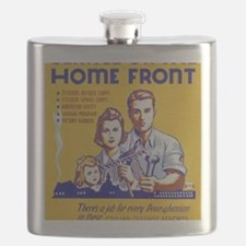 Funny Military wwii Flask