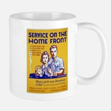 Vintage poster - Service on the Home Front Mugs