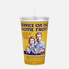 Vintage poster - Servi Acrylic Double-wall Tumbler