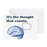Thoughts count Greeting Cards